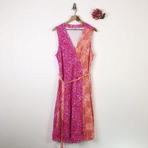 ISAAC MIZRAHI Floral Wrap Dress